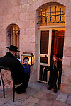Israel, Jerusalem. Hanukkah at the Ultra Orthodox Me?a She?arim quarter