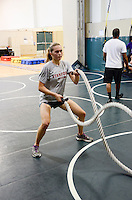 The Harker School - 2013 Summer Programs - Sports Camp - TRX Camp - Held at Blackford Wrestling Gym  - Photo by Kyle Cavallaro