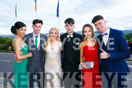 Enjoying the Killarney secondary schools Debs at Ballyroe Heights Hotel on Monday were Courtney Drummond, Aaron O Callaghan, Amy O'Grady, Keelin Deegan, Shania Costello and Ethan Fleming