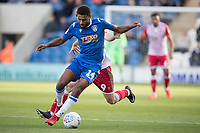 Brandon Comley of Colchester United under pressure from Jason Cowley of Stevenage during Colchester United vs Stevenage, Sky Bet EFL League 2 Football at the JobServe Community Stadium on 5th October 2019