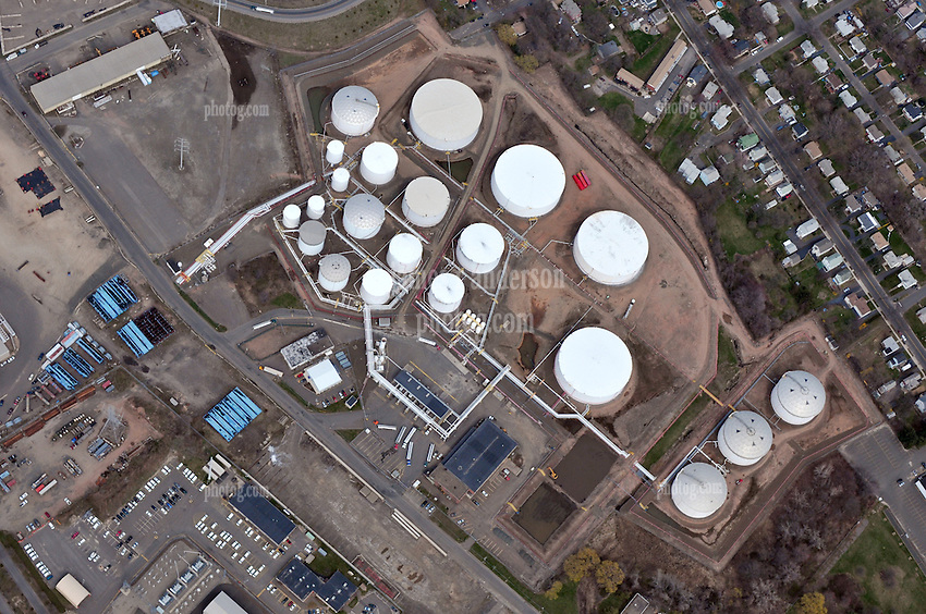 Motiva Enterprises Terminal Operations New Haven Harbor, Connecticut.  Aerial Views Of Terminal, Storage