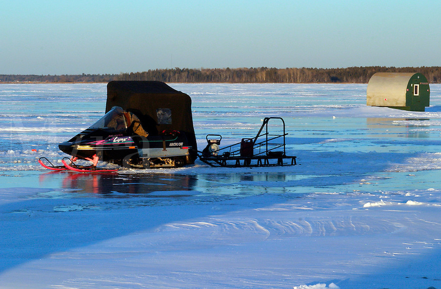 Snowmobile and Ice-fishing Houses