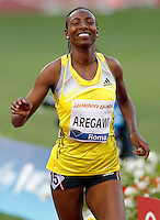 Golden Gala di atletica leggera allo stadio Olimpico di Roma, 6 giugno 2013.<br /> Sweden's Abeba Aregawi reacts after winning the women's 1500 meters at the Golden Gala IAAF athletics meeting at Rome's Olympic stadium, 6 June 2013.<br /> UPDATE IMAGES PRESS/Riccardo De Luca