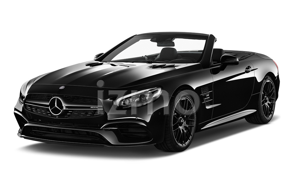 2017 Mercedes Benz SL-Class AMG-63 2 Door Convertible Angular Front stock photos of front three quarter view