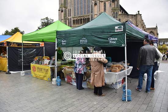 Gluten free food fair outside the Forum, Norwich, October 2017