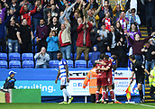 9th September 2017, Madejski Stadium, Reading, England; EFL Championship football, Reading versus Bristol City; Bristol City players and fans celebrate the final whistle