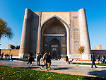 Bibi Khanum mosque main entrance, Samarkand.