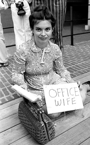 "Battered women""s Speakout Boston City Hall Plaza on anniversary of women's suffrage 8.26.76"