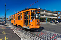 San Francisco F Tram near the Wharf, California
