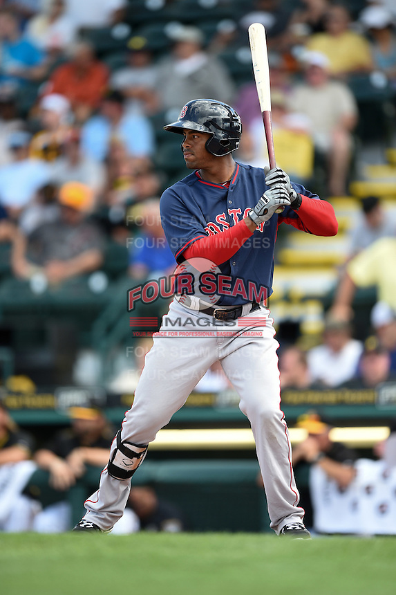 Boston Red Sox Henry Ramos (78) during a Spring Training game against the Pittsburgh Pirates on March 12, 2015 at McKechnie Field in Bradenton, Florida.  Boston defeated Pittsburgh 5-1.  (Mike Janes/Four Seam Images)