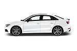 Car Driver side profile view of a 2017 Audi S3 Premium-Plus 4 Door Sedan Side View