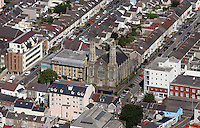 Aerial view of St Helen's Church in Swansea