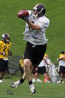 Eric Greenwood, Pittsburgh Steelers wide receiver. Training camp, August 11, 2011 at Latrobe, Pennsylvania.