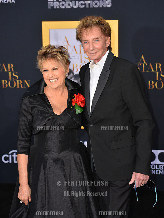 LOS ANGELES, CA. September 24, 2018: Lorna Luft &amp; Barry Manilow at the Los Angeles premiere for &quot;A Star Is Born&quot; at the Shrine Auditorium.<br /> Picture: Paul Smith/Featureflash