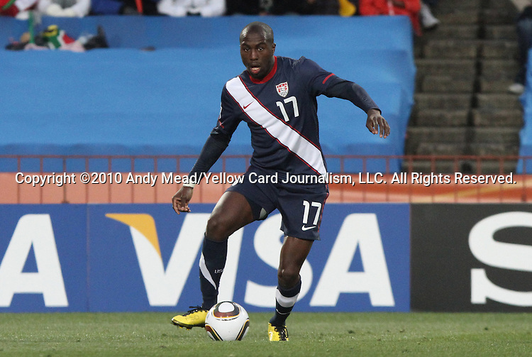 18 JUN 2010: Jozy Altidore (USA). The Slovenia National Team played the United States National Team to a 2-2 at Ellis Park Stadium in Johannesburg, South Africa in a 2010 FIFA World Cup Group C match.