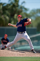 GCL Red Sox pitcher Devon Roedahl (59) during a Gulf Coast League game against the GCL Orioles on July 29, 2019 at Ed Smith Stadium in Sarasota, Florida.  GCL Red Sox defeated the GCL Pirates 9-1.  (Mike Janes/Four Seam Images)