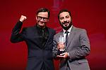 "Michael Noer, Navid Mohammadzadeh, November 05, 2019 - Navid Mohammadzadeh, speak after winning ""Award for Best Actor"" for the film ""Just 6.5 [Metri Shesh Va Nim]""during the 32nd Tokyo International Film Festival, award ceremony, in Tokyo, Japan on November 05, 2019. (Photo by 2019 TIFF/AFLO)"