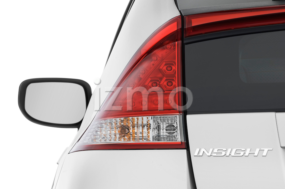 Tail light close up detail view of a 2010 Honda Insight