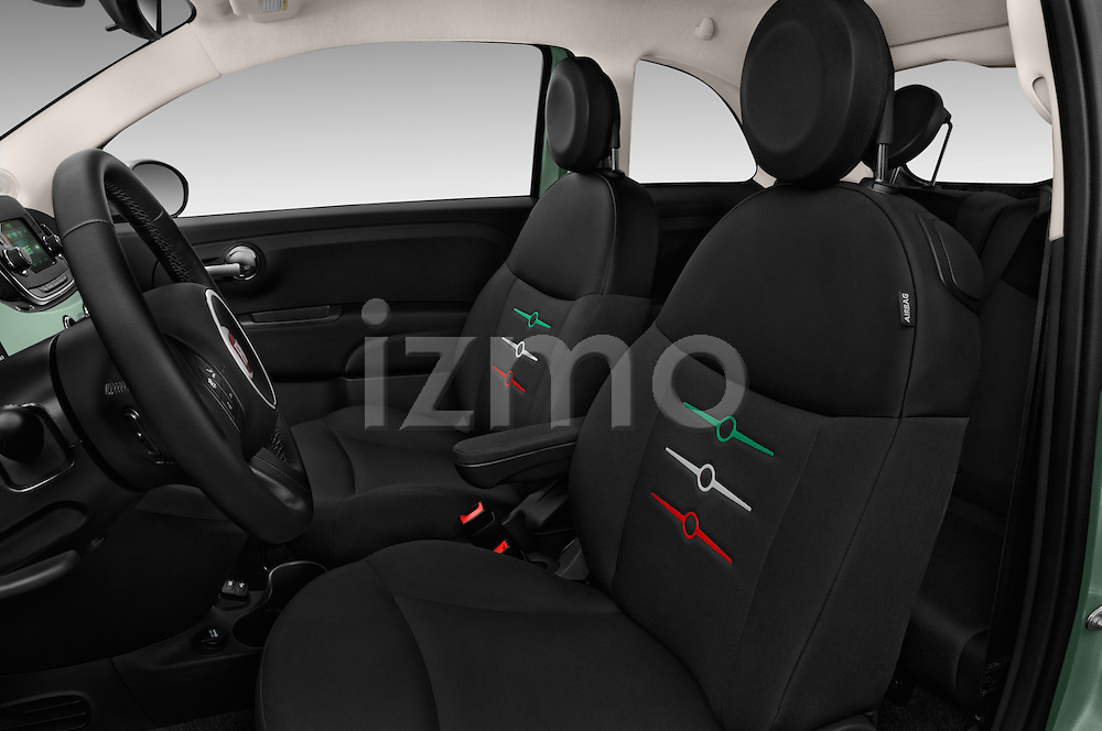 Front seat view of 2016 Fiat 500 Pop 3 Door Hatchback Front Seat  car photos