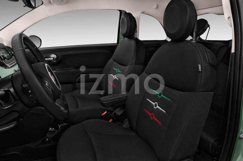 Front seat view of 2016 Fiat 500 Pop 3 Door Hatchback Front Seat  car photos