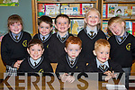 Students from Knockaclarig N.S., Brosna enjoying the end of their first week at school on Friday were front l/r Niall Dillane, George Guiney and Emmet  Lane, back l/r Shauna Cronin, Patrick Sheehan, Padraig Langan Browne, Aoife Lane and Stephan Browne. ...................... ........................   Copyright Kerry's Eye 2008