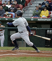 June 4, 2004:  Darren Bragg of the Columbus Clippers, International League (AAA) affiliate of the New York Yankees, during a game at Dunn Tire Park in Buffalo, NY.  Photo by:  Mike Janes/Four Seam Images