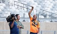 BELO HORIZONTE, MG, 23 DE ABRIL 2013 - TREINO SELECAO BRASILEIRA - Dadá Maravilha (ex-seleção e vários times) acompanha o treino da seleção brasileira para amistoso contra o Chile no Mineirão. FOTO: WILLIAM VOLCOV - BRAZIL PHOTO PRESS
