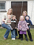 Catriona Seery and her children, Moya and Leon with Shona Behan and her children, Conor and Ciarán...Photo NEWSFILE/Jenny Matthews.(Photo credit should read Jenny Matthews/NEWSFILE)....This Picture has been sent you under the condtions enclosed by:.Newsfile Ltd..The Studio,.Millmount Abbey,.Drogheda,.Co Meath..Ireland..Tel: +353(0)41-9871240.Fax: +353(0)41-9871260.GSM: +353(0)86-2500958.email: pictures@newsfile.ie.www.newsfile.ie.FTP: 193.120.102.198.