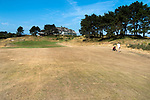 Droog golfbaan/ bruine fairways