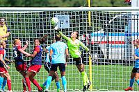 Boyds, MD - Sunday July 31, 2016: Caroline Casey during a regular season National Women's Soccer League (NWSL) match between the Washington Spirit and Sky Blue FC at Maureen Hendricks Field, Maryland SoccerPlex. The Washington Spirit defeated Sky Blue FC 3-1.