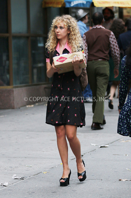 ACEPIXS.COM<br /> <br /> June 19 2014, New York City<br /> <br /> Actress Juno Temple was on the set of the TV movie 'Rock 'n' Roll on June 19 2014 in New York City<br /> <br /> By Line: Zelig Shaul/ACE Pictures<br /> <br /> ACE Pictures, Inc.<br /> www.acepixs.com<br /> Email: info@acepixs.com<br /> Tel: 646 769 0430
