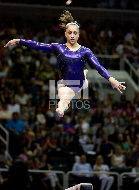 Jordyn Wieber of Geddert's competes on the beam during 2012 US Olympic Trials Gymnastics Finals at HP Pavilion in San Jose, California on July 1st, 2012.