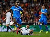 17th March 2019, Mestalla Stadium, Valencia, Spain; La Liga football, Valencia versus Getafe; Dimitri Foulquier of Getafe takes on Francis Coquelin of Valencia CF