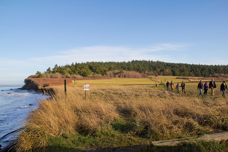 Fort Worden, North Beach, trail access, walkers, Port Townsend, boatyard,  Jefferson County, Olympic Peninsula, Washington State, Pacific Northwest, USA,