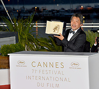 Hirokazu Koreeda at the photocall for &quot;Award Winners&quot; at the 71st Festival de Cannes, Cannes, France 19 May 2018<br /> Picture: Paul Smith/Featureflash/SilverHub 0208 004 5359 sales@silverhubmedia.com