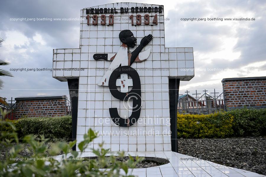 RWANDA, Ruhengeri, genocide memorial for genocide 1994 / RUANDA, Ruhengeri, Genozid Memorial zur Erinnerung an den Völkermord und ethnischen Konflikt zwischen Hutu and  Tutsi im Jahr 1994, ca. 1 Million Tutsi wurden ermordet