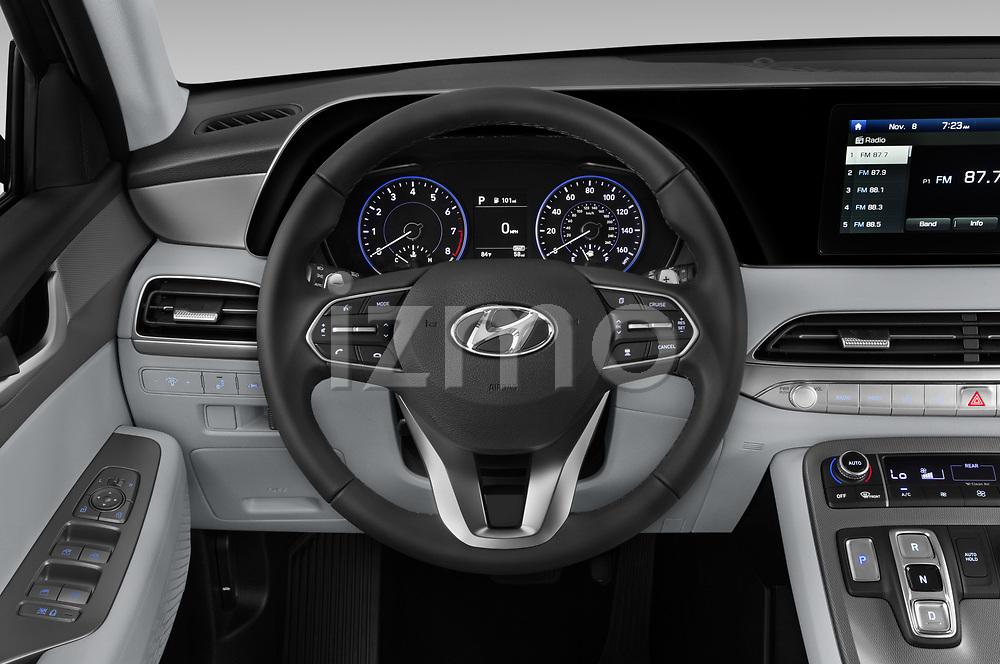 Car pictures of steering wheel view of a 2020 Hyundai Palisade SEL 5 Door SUV