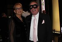 NWA Democrat-Gazette/CARIN SCHOPPMEYER Sue and Mark Henneberger enjoy the Masquerade.