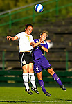 31 August 2007: University of Vermont Catamounts defender Emilie Rowe (19), a Junior from Rochester, NY, battles Randi Condley (2), a Freshman from Edmonton, Alberta during a game against the University of Central Arkansas Sugar Bears at Historic Centennial Field in Burlington, Vermont. The Catamounts defeated the Sugar Bears 1-0 during the TD Banknorth Soccer Classic...Mandatory Photo Credit: Ed Wolfstein Photo