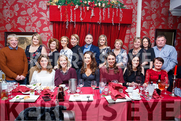 The staff of Blennerville National school enjoying their Christmas party on Friday night.