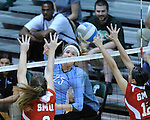 Tulane Women's Volleyball fall to SMU 3-2 in a match played at Fogelman Arena.
