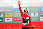 Simon Yates (GBR) Mitchelton-Scott retakes the race leaders Red Jersey after winning Stage 14 of the La Vuelta 2018, running 171km from Cistierna to Les Praeres, Nava, Spain. 8th September 2018.<br /> Picture: Unipublic/Photogomezsport | Cyclefile<br /> <br /> <br /> All photos usage must carry mandatory copyright credit (&copy; Cyclefile | Unipublic/Photogomezsport)
