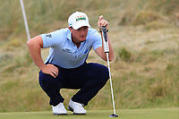 Paul Dunne (IRL) on the 8th green during Round 3 of the Dubai Duty Free Irish Open at Ballyliffin Golf Club, Donegal on Saturday 7th July 2018.<br /> Picture:  Thos Caffrey / Golffile