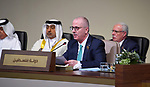 Palestinian Prime Minister Rami Hamdallah attends the opening session of the Arab Economic and Social Development Summit in Beirut, Lebanon, 20 January 2019. Lebanon is hosting the regional economic summit from 20 January. Photo by Prime Minister Office