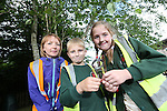 Pupils Rohan Efstathiou &amp; Emily Davies from Ysgol Sant Baruc (Barry) with Welsh Water teacher Mari Wort taking part in Bio Diversity Week at Welsh Water Education Centre Cog Moors.<br /> <br /> 24.06.13<br /> &copy;Steve Pope-FOTWALES
