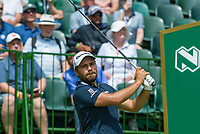 Romain Langasque (FRA) on the 1st tee during the first round at the Nedbank Golf Challenge hosted by Gary Player,  Gary Player country Club, Sun City, Rustenburg, South Africa. 14/11/2019 <br /> Picture: Golffile | Tyrone Winfield<br /> <br /> <br /> All photo usage must carry mandatory copyright credit (© Golffile | Tyrone Winfield)