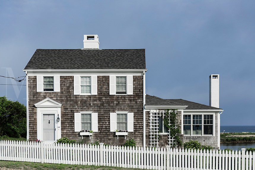 Charming beach house, Corporation Beach, Dennis, Cape Cod, Massachusetts, USA.