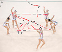 China team group (CHN),<br /> AUGUST 20, 2016 - Rhythmic Gymnastics :<br /> Group All-Around Qualification, Rotation 1 Ribon at Rio Olympic Arena during the Rio 2016 Olympic Games in Rio de Janeiro, Brazil. (Photo by Enrico Calderoni/AFLO SPORT)