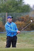Alan Shearer plays a shot to the 5th during the Hero Pro-am at the Betfred British Masters, Hillside Golf Club, Lancashire, England. 08/05/2019.<br /> Picture David Kissman / Golffile.ie<br /> <br /> All photo usage must carry mandatory copyright credit (© Golffile | David Kissman)