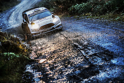 14.11.2015. Wales. WRC Rally of Great Britan. Stages 11-14, Wales.  <br /> Ott Tanak(EST)- R.Molder(EST)-Ford Fiesta WRC